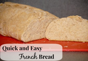 Homemade french bread in 1 hour!