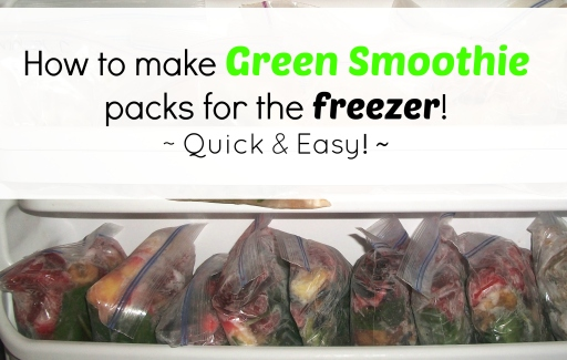 Green Smoothies Freezer Packs