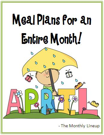 April Meal Plan